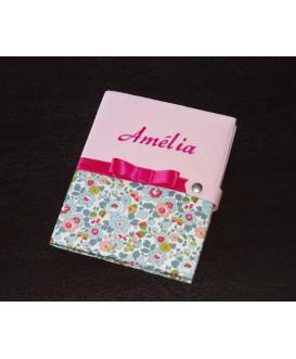 Protège carnet de santé fille rigide personnalisé - Cadeau de naissance personnalisé - liberty