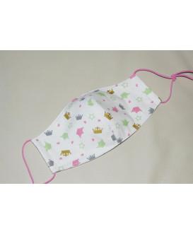 Masque en tissu pour enfant - Lavable et réutilisable - couronnes