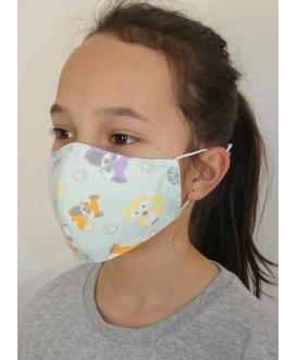 Masque en tissu pour enfant - lavable et réutilisable - renardeau