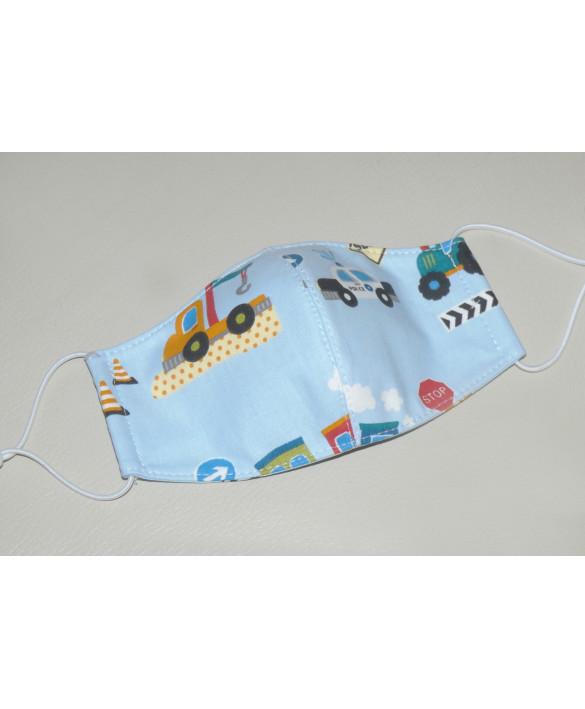 Masque en tissu pour enfant - lavable et réutilisable - camion
